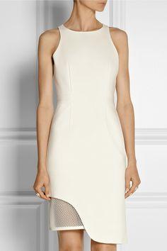 Jonathan Simkhai|Mesh-trimmed stretch-ponte dress|NET-A-PORTER.COM