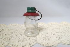 Vintage Conductors Lantern Candy Container Glass Body Metal Cap and Ring T. H. Stough Co. Jeannetta, Pa. by KansasKardsStudio on Etsy