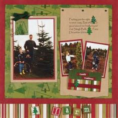 Christmas Scrapbook Page Layouts