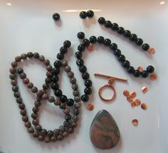 African Landscape Jasper  Glass Copper by CatsBeadKitsandMore, $14.99