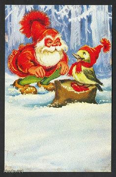 Irma Salmi Fairy Land, The Elf, Leprechaun, Goblin, Troll, Gnomes, Illustrators, Scandinavian, Christmas Cards