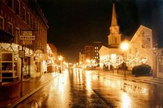Main Street, Lexington VA. This photo is taken during my favorite time of the year.  The beauty of downtown Lexington around Christmas really takes your breath away.