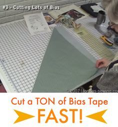 Cut bias tape LIGHTNING FAST! (And how to stitch it together quickly too! Yay!)