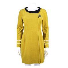 Star Trek TOS 50th Anniversary Command Gold Velour Dress