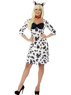 Cow Outfit Idea cow costume ladies black and white funny animal fancy dress Cow Outfit. Here is Cow Outfit Idea for you. Cow Outfit adult cow fancy dress costume with udders moo cow. Animal Fancy Dress Costumes, Fancy Dress Ball, Adult Fancy Dress, Costume Dress, Stag Outfits, Cow Outfits, Carnival Dress, Outfits Fiesta, Carnival