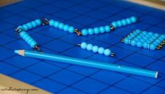 Learn to tell time with Montessori beads