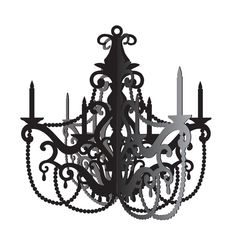 Our Black Paper Chandelier is a chic addition to your Paris-themed party. Black Paper Chandelier is made of heavyweight cardstock. Cardboard Chandelier, Hanging Chandelier, Silver Chandelier, Paris Party, Paris Theme, Halloween Home Decor, Halloween Decorations, Hanging Decorations, Halloween Crafts