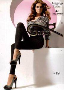 Gatta Damen Leggings Leggi 01 Baumwolle Frauen Leggins Cotton-Triko Grafit Gr.M
