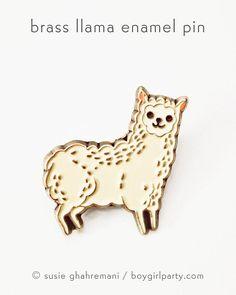 Funny Llama Gift Teenage Girl Jewelry Kawaii Pins Enamel Pastel Aesthetic