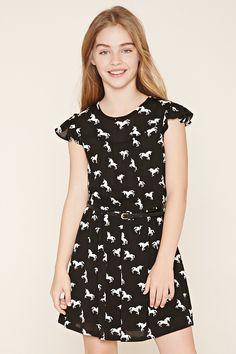 Vestido de unicornios (niñas) - Niñas - Vestidos - 2000187569 - Forever 21 EU Español