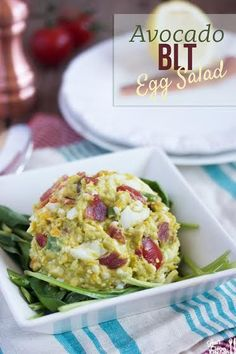I love egg salad. Also on the list of things that I love are: avocados, tomatoes, bacon, and scallions, to name a few.