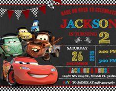 Disney Cars Invitation Disney Cars Birthday Disney by KidyParty