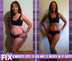 Kimberly lost 15 lbs and 11 inches in just 21 Days (YES LOSE UP TO 15 POUNDS IN 3 WEEKS!) by using the proven Beachbody system 21-Day Fix