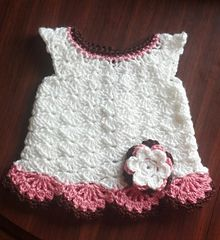 Free Crochet Pattern For Christmas Dress : Childrens French Pop-Over Smock/Dress free pattern ...