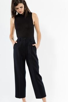 High Waisted Wool Trouser Shop Idun 495 Selby Ave, St. Paul