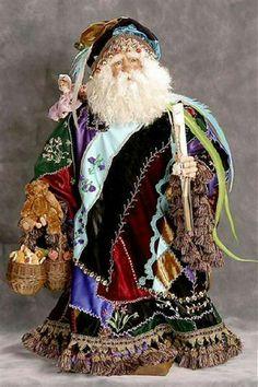 Crazy Quilt Santa~ Visit santaslegends.com