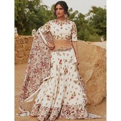 White taffeta silk digital printed lehenga choli Two Piece Skirt Set, Skirts, Dresses, Fashion, Vestidos, Moda, Fashion Styles, Skirt