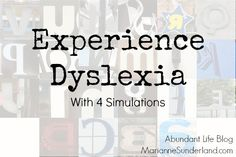 Experience Dyslexia (reading, video's of what it's like to be dyslexic) Eye-Opening!! Repinned by  SOS Inc. Resources  http://pinterest.com/sostherapy.