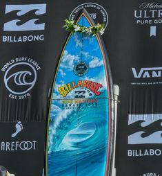 A showcase of the Pipe Masters trophy surfboard by artist, Phil Roberts and legendary surfer and shaper, Gerry Lopez, from 2008 to 2019