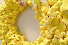 There's a party with my peeps - and it's a fun wreath! Can you believe… :: Hometalk