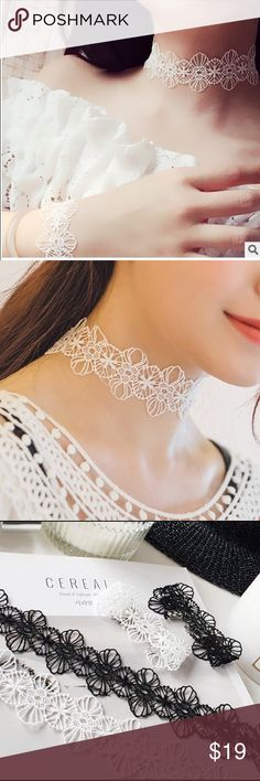 White flowers sweet retro lace choker necklace White flowers sweet retro lace choker necklace  These beautiful chokers are one of my favorites you will love them.  NWT Same day Shipping Bundle and Save No Trades Jewelry