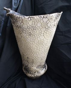 Raku vase back view  Lulu Pottery/ Tracy Gurdian