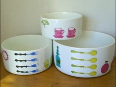 Rare set of Pynta bowls by Stig Lindberg by WookySupplies on Etsy