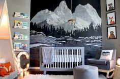 Chalkboard Paint Like You've Never Seen It Before: A Magical Chalk Art Mountain Mural — My Room