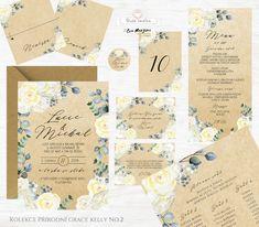 Svatební oznámení s krémovými a béžovými květy s lístky v přírodním stylu rustic vintage. Autorská tvorba od www.BudeVeselka.cz. Grace Kelly, Place Cards, Place Card Holders