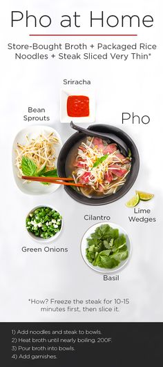 Making pho at home doesn't have to be an all-day affair. Starting with a basic grocery-store broth is the key to phenomenal pho.