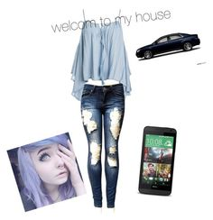"""""""welcome to my house"""" by cheyanne-lewis ❤ liked on Polyvore featuring Sans Souci"""