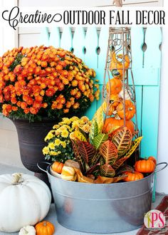 Creative Outdoor Fall Decor | Positively Splendid {Crafts, Sewing, Recipes and Home Decor}