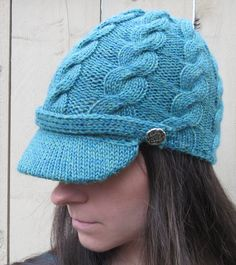 Free Knitting Pattern for Cabled Chapeau