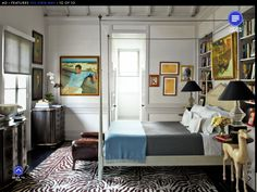 Built-in bookshelves on either side of the bed - for the guest room?