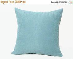 20% off Aqua Pillow Aqua Velvet Pillow Turquoise Velvet