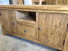 Rustic Plank TV unit.  Made to order by Cobwebs Furniture Company.