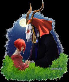 #eliasainsworth #chisehatori #theancientmagusbride Watch Attack On Titan, Chise Hatori, The Ancient Magus Bride, Nerdy, Alice, Animation, Manga, Robin, Hearts