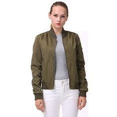 Women's Quilted Lightweight Jackets - Miya Classic Flight Jacket Short Bomber Jacket Women Coat ** Check this awesome product by going to the link at the image. (This is an Amazon affiliate link)