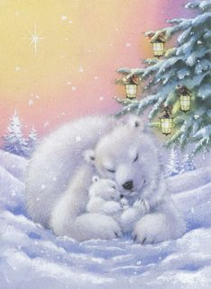 Leading Illustration & Publishing Agency based in London, New York & Marbella. Christmas Scenes, Christmas Animals, Christmas Pictures, Christmas Art, Vintage Christmas, Cute Dog Pictures, Bear Pictures, Christmas Drawing, Christmas Paintings