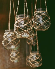 diy glass jar lanterns - pop a few candles in there and hang them from a tree in the garden!! :D
