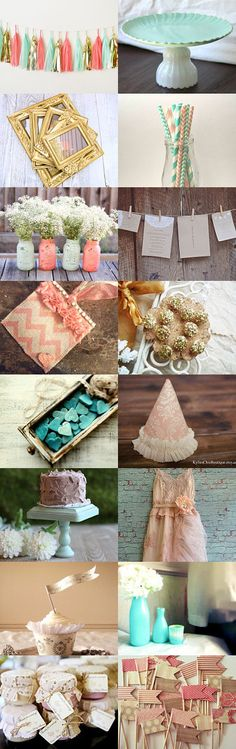 The Mason jars!!   Shabby Chic Party Decor by Mary Mackie on Etsy--Pinned with TreasuryPin.com