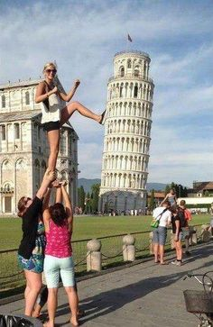 Creative Photo at the Leaning Tower of Pisa.  This is now on my things to do before i die list!!