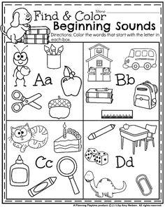 best kindergarten alphabet worksheets images  preschool day  beginning sounds worksheets for kindergarten literacy kindergarten  backtoschool kindergartenworksheets planningplaytime kindergarten  alphabet
