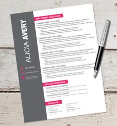 INSTANT DOWNLOAD  Resume Design Template  by VivifyCreative, $16.50