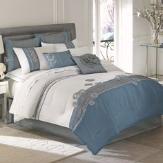 bed bath and beyond- would love to have this bedroom, calm colors
