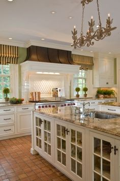 Kitchen - Love the Hood and Island with Glass Doors.