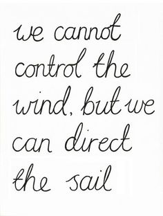 It's all in the sails