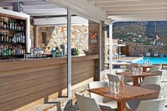 Hotel Perrakis welcomes you in Andros, on a perfect location near two beautiful beaches, on Kypri Bay. Get to know a unique Cycladic island. Pool Bar, Greece Islands, Beach Bars, Outdoor Furniture Sets, Outdoor Decor, Beautiful Beaches, Patio, Home Decor, Homemade Home Decor