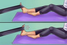 Here are six exercises to get rid of knee and foot pain forever - Tips and Tricks - Tips and Crafts Hip Pain, Foot Pain, Knee Pain, Get Rid Of Bunions, Weak Ankles, Body Joints, Knee Exercises, Sore Feet, Thigh Muscles