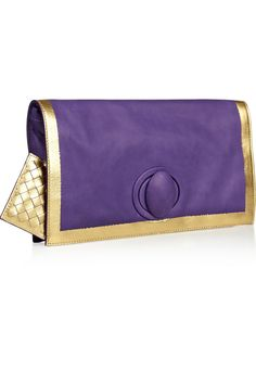 Bottega Veneta | Hand-painted waxed leather clutch